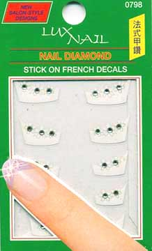 LUXNAIL STICK ON FRENCH DECALS