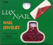 Nail Glitter Red