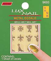 Metal decals nail sticker